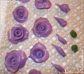 18 handmade clay roses for projects