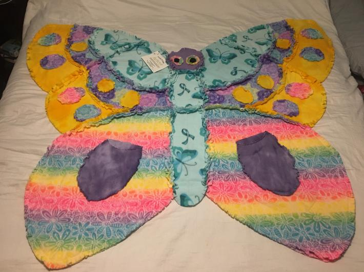 Rainbow Butterfly Blanket