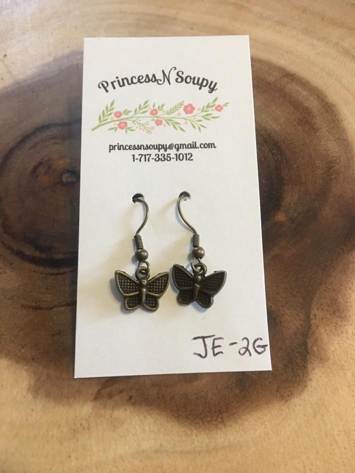 Rustic Butterfly Earrings
