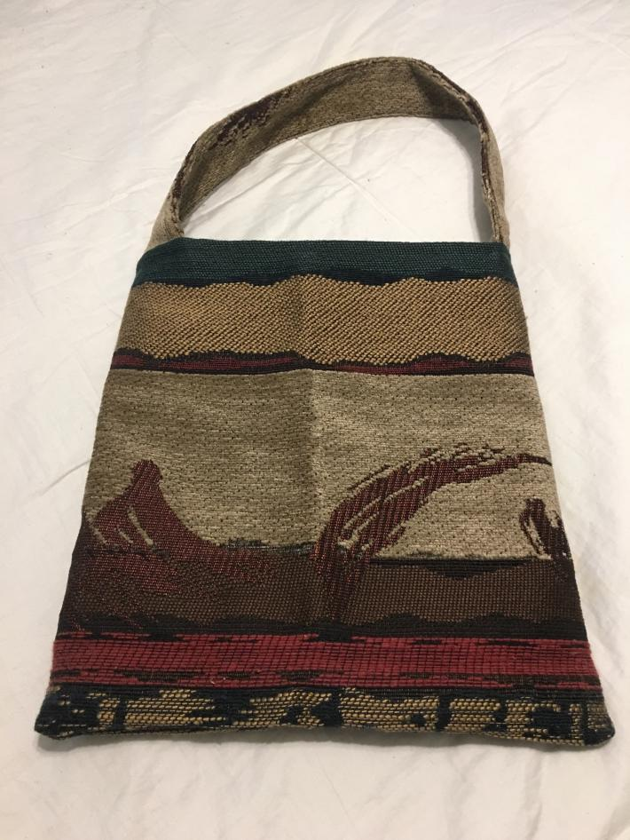 Upholstered Tapestry Handbag Tote