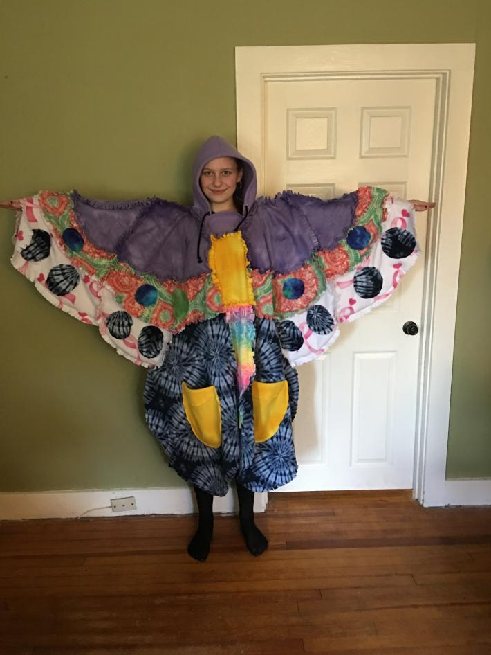 Poncho Butterfly Blanket