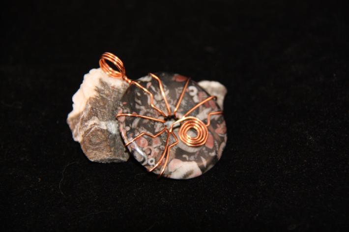 P9319 Fossil Stone Pendant