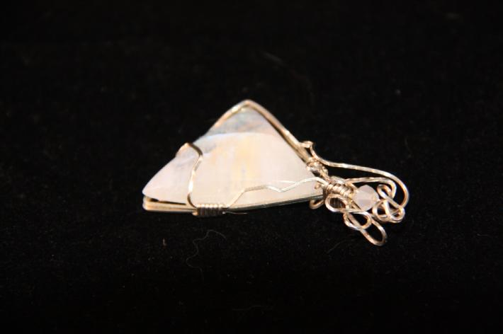 Moonstone Wire Wrapped Pendant P9302