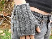 fingerless gloves Wrist Warmers Grey Gray
