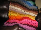 multi color afghan