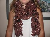 brown poke a dot scarf