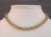 Light Gold Handbeaded Necklace