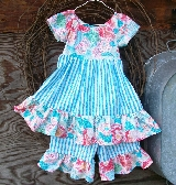 Girls ruffled dress with ruffled shorts in a size 3