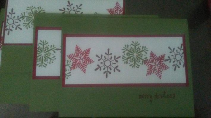 Set of 4 Christmas cards