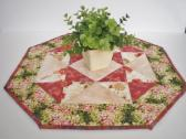 Hydrangeas Centerpiece Octagon Quilted Table Topper Decor Accent