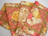 Table Runner Linens Quilted Table Topper Floral Accent