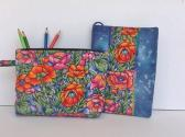 Covered Notebook  Zippered Pouch Set