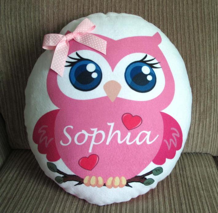 Cute Beautiful Owl Personalized Pillow Perfect Keepsake
