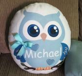 Cute Beautiful Owl Personalized Pillow Perfect Keepsake