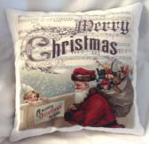 Decorative Christmas Pillow Santa Claus