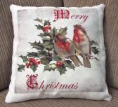 Decorative Christmas Pillow Birds