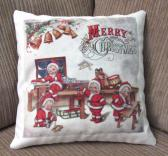 Decorative Christmas Pillow Santa