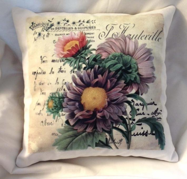 Decorative Pillow Autumn Flower
