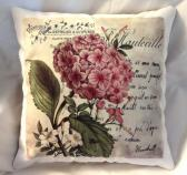 Decorative Pillow Autumn Hidrangea