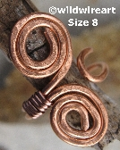 Hammered Copper Wrap Ring