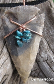 Turquoise Dressed Arrowhead Necklace