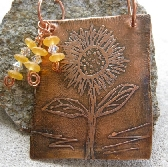 Etched Sunflower Necklace