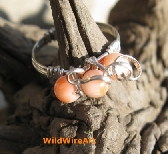Delicate Pink Carribean Coral and Sterling ring sz7