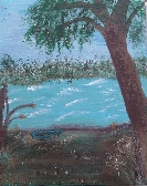 Favorite Cove at Rend Lake in Acrylics