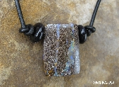 Koroit Boulder Opal Necklace on Long Greek Leather Cord