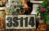 Custom Mosaic Address Sign with 5 Numbers