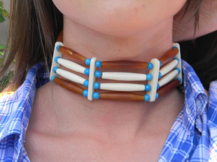 handmade native american choker
