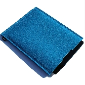 Blue Wool Felt iPad Sleeve FREE POSTAGE