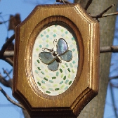 Framed Butterfly Mosaic Wall Hanging