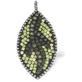 Jasper Mosaic Pendant with moss jasper in green