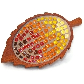 Mosaic Leaf Brooch