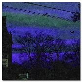 Blue Surreal Sunset 8 x 10 in print Await the Night