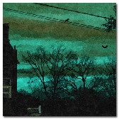 Teal Surreal Sunset 8x 10 in print Await the Night