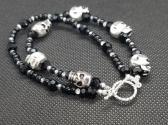 Skulls and Bling Bracelet