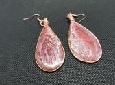 Rose Iridescent Earrings