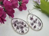 Purple Moss Resin Earrings
