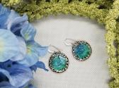 Blue and Green Resin Earrings