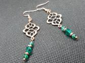 Antique Copper Filigree Earrings