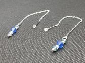 Blue Swarovski Threader Earrings