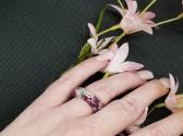 Purple Moss Resin Ring