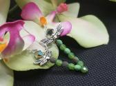 Green Swarovski Dragonfly Earrings