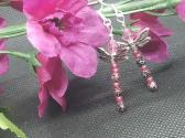 Speckled Dragonfly Earrings