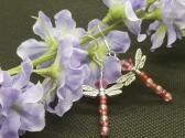 Pink Dragonfly Earrings