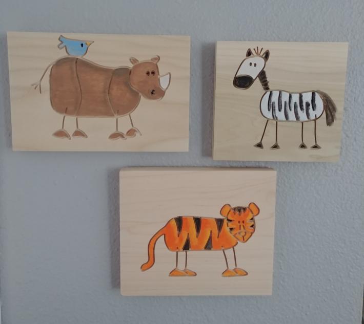 Safari animals nursery decor Animals wall hanging