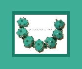 Teal Treasures lampwork bead set by Kathleen Urato