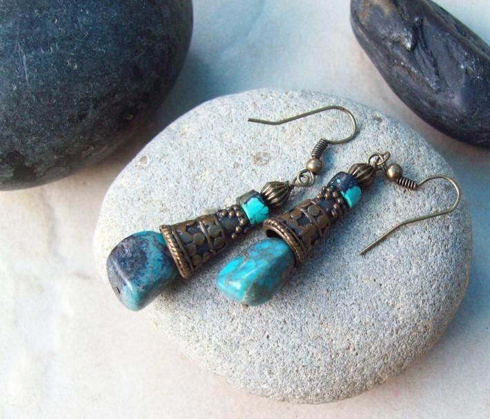 Cleo natural Turquoise earrings